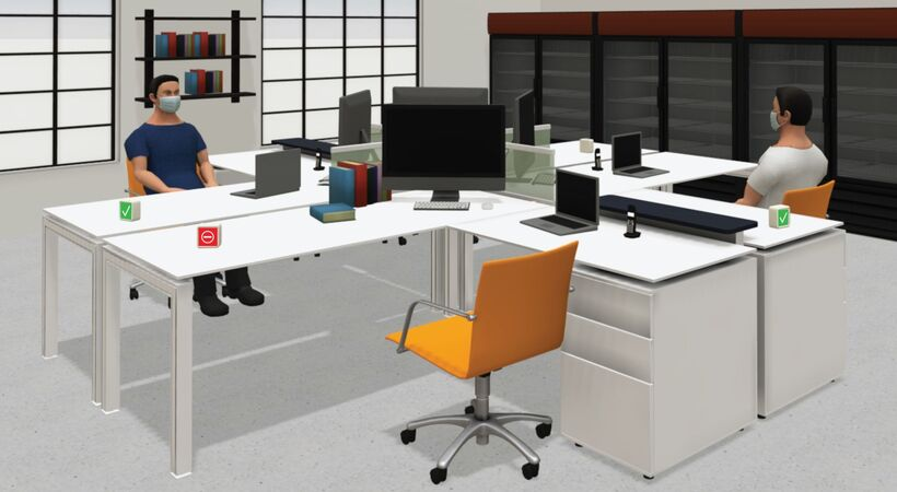 Social distancing management system from IAconnects helps you manage your work space occupancy